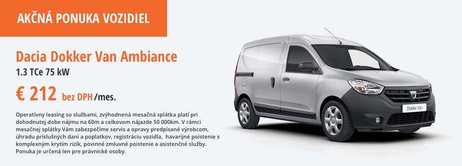 Dacia Dokker Van Ambiance Akcna ponuka